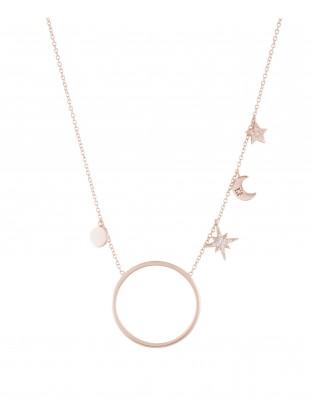 Halskette 'Midnight' Silber rosé vergoldet