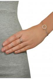 Leaf Ring 'Circle of Life' Zirkonia silber