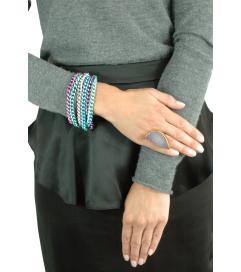 Armband 'Want it' lila türkis