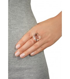 Cocktail Ring 'Etoile' kristall