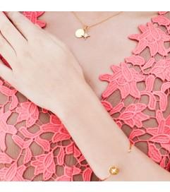 Armreif 'Astral Star' Silber mit Zirkonia rosé vergoldet