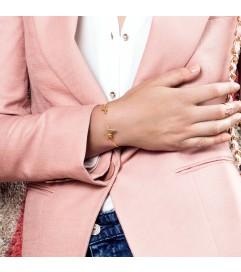 Armreif 'Heartbeat' Silber rosé vergoldet