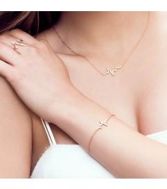 Armband 'Heartbeat' mit Zirkonia Silber vergoldet