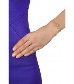 Leaf Double Ring vergoldet
