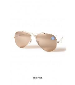 Brillen Aufkleber 'Inner Circle Peace' mocca beige