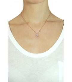 Halskette 'LO.VE' rosé vergoldet