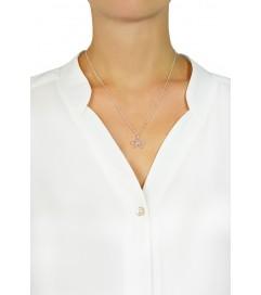 Leaf Halskette 'Schleife' silber