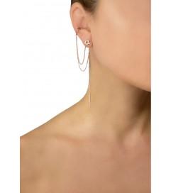 Leaf Ear Cuff mit Stern vergoldet