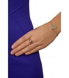 Leaf Ring 'Kleeblatt' vergoldet
