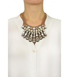 Halskette 'Sandi White' multi-kristall