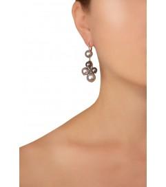 Ohrhänger 'Grape' mit Perlen grau