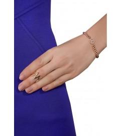 Ring 'Up & Down' verstellbar rosé vergoldet