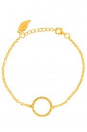 Leaf Armband Circle of Life silber vergoldet