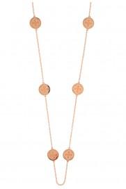 Leaf Halskette lang 'Cloverleaf' rosé vergoldet