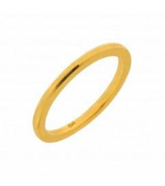Leaf Ring Basic Silber vergoldet