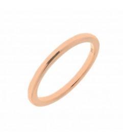 Leaf Ring Basic Silber rosé vergoldet
