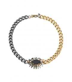 Kette 'Mosaic Crystal' gold-schwarz