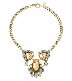 Kette 'Crystal Domed Statement' antik vergoldet