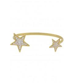 Armreif mit Sternen vergoldet