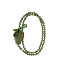 Kette lang 'Totenkopf' olive