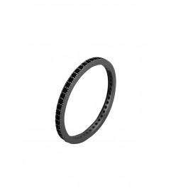 Kurshuni Ring 'True Love' All Black Stone