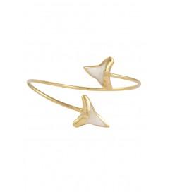 Armreif vergoldet mit Hai-Zahn