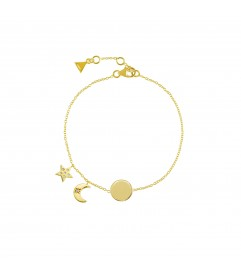 Armband 'Moon and Star' Silber vergoldet