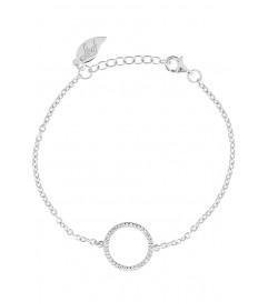 Leaf Armband Circle of Life silber rhodiniert