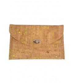 Clutch Tasche 'Natural' gelb