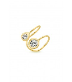 Amorium Mini Ear Cuff '2 Stones' vergoldet