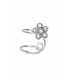 Amorium Mini Earcuff 'Flower' Silber