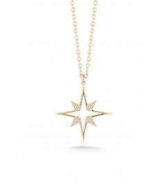 Halskette 'Astral Stern' vergoldet