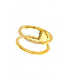 Leaf Ring 'Double' vergoldet