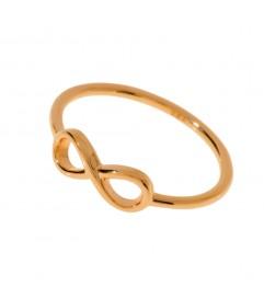 Leaf Ring 'Infinity' rosé vergoldet