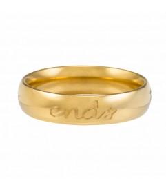 Ring 'Forever never ends' vergoldet