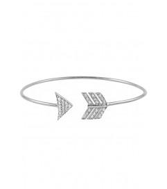 Armspange 'Pfeil' mit Zirkonia Silber