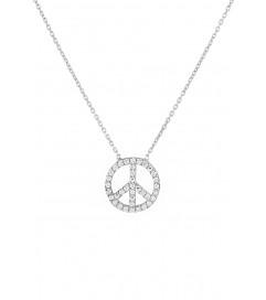 Halskette 'Peace' groß Silber