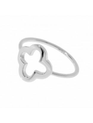 Leaf Ring 'Kleeblatt' silber