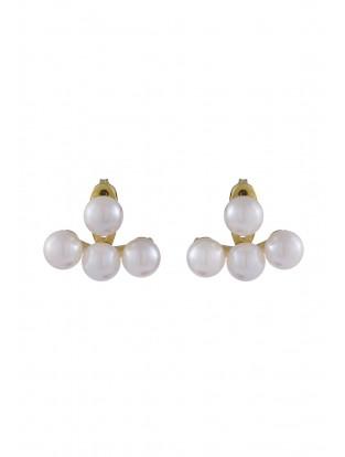 Ohrring mit drei Perlen