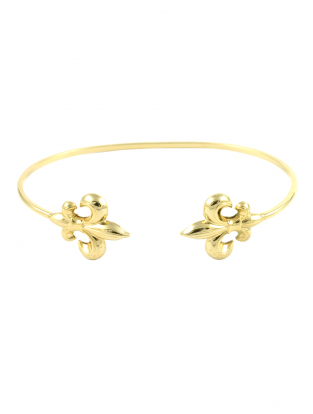 Armreif 'Fleur' vergoldet