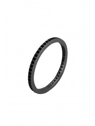 Kurshuni Ring 'True Love' All Black Stone