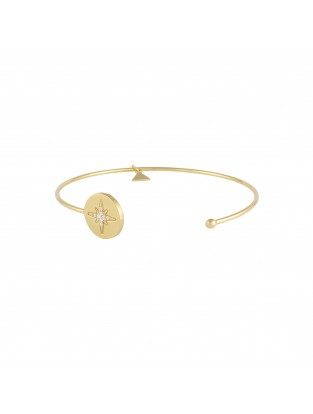 Armreif 'Astral Star' Silber mit Zirkonia vergoldet