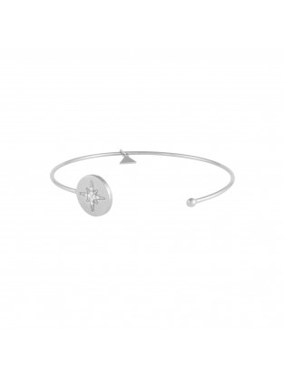 Armreif 'Astral Star' Silber mit Zirkonia