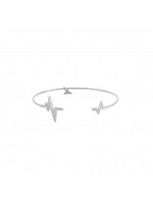 Armreif 'Heartbeat' Silber mit Zirkonia