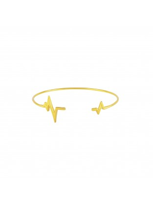 Armreif 'Heartbeat' Silber vergoldet