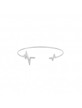 Armreif 'Heartbeat' Silber