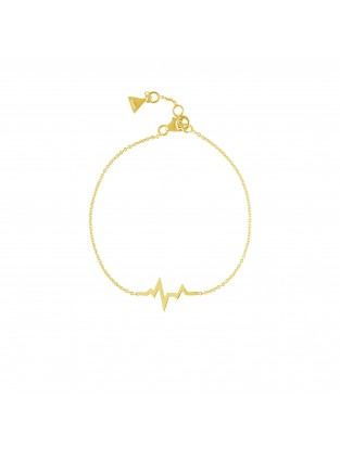 Armband 'Heartbeat' Silber vergoldet