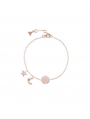 Armband 'Moon and Star' Silber rosé vergoldet