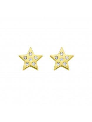 Ohrstecker 'Starlight' Silber vergoldet