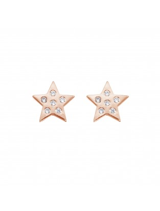 Ohrstecker 'Starlight' Silber rosé vergoldet
